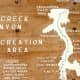 Wooden map of Oak Creek Canyon