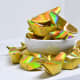 """A relatively newer item, """"pre-made"""" paper gold ingots are nowadays very popular. A bag of fifty costs but a few dollars."""