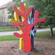 """Three Colorful Friendly Trees"" by David Adickes"