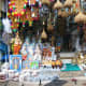 A nearby shop which sells various articles related to pooja and  other souvenirs.