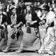 Indira Gandhi the then Prime Minister of India dancing on folk tunes at Shimla.