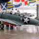 This SBD-2 was one of sixteen dive bombers of VMSB-241 launched from Midway on the morning of June 4,1942. Holed 219 times in the attack on the carrier Hiryū, it survives today at the National Naval Aviation Museum at Pensacola, Florida.[181]