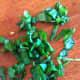 Chop the basil leaves
