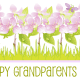 Free Happy Grandparents Day card and clip art with purple flowers