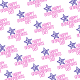 Free Grandparents Day wrapping paper with blue stars and magenta text
