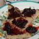 After boiling the grape juice with sugar, we enjoyed the grape jam. (Step 4)