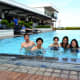 Enjoying the pool! From right to left: Marnie, Meg, Angela, Mark and Renz (me).