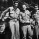 J.D. Salinger with his Band of Brothers in the Second World War. When Salinger landed on Utah Beach he had the first six chapters of The Cather in the Rye in his backpack.