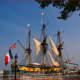 A tall ship celebrated at Alexandria Marina.