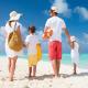Family beach photo to digital art.