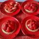 Strawberry Tartlets with red wine jelly glaze.