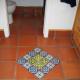 Bathroom diamond in talavera tile.