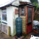 While doing drainage also replaced door on the garden tool shed.