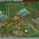 Screenshots of my initial theme park in Roller Coaster Tycoon.