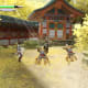 Battle before a Shinto shrine in Dawn of the Samurai.