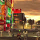 Golden Osaka evening in Yakuza 2.