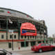 Here is a picture of Wrigley Field, taken during the baseball season of May 2016, with its marquee in full glory. The picture I took in December 2015 was under renovation. I'm going to omit it unless you really like shots of scaffolding.