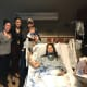 Visit from a few of my kids and grandson the Evening of the Surgery