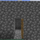 Build a simple cobblestone house to store your bed and valuables.