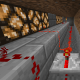 The redstone lamps are connected by a redstone circuit around the underground farm.