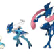 Froakie, Frogadier, and Greninja