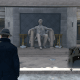 """Watch Dog's version of """"Seated Lincoln""""."""