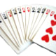What a great front hand! There are three wilds (2s) and 4 potential canastas. Did anyone actually shuffle the cards?