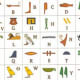 An example of Egyptian-style hieroglyphs as a code.