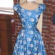A beautiful blue vintage '50s dress!