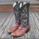 Vintage Men's Reptile Cowboy Boots on etsy.com.
