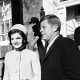 Jackie and JFK on Inauguration Day, 1960.
