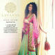 Green-and-pink lehenga.