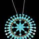 Zuni turquoise inlay star pendant.