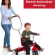 The handle makes it easy for parents to push and steer the tricycle, and your child will enjoy pushing it as well!