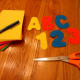 Cut out letters and numbers with scissors.