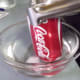After about 45 seconds, quickly dunk the can into the very cold water.