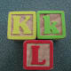 Letter/number blocks are perfect for learning and playing at the same time!