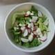 Add broccoli, cauliflower, and radishes.