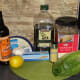 Ingredients for delicious Caesar salad dressing