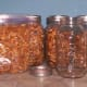 Step  Two and Three: Ready to Fill the Jars With Pecans