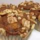 Healthy banana nut muffins. No sugar, no oil