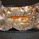 Herring is baked in foil