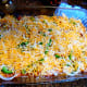Sprinkle 1 cup of shredded cheese and repeat the layers once more.