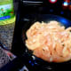 Cook chicken in skillet with 2 tbsp of vegetable oil until juices run clear.