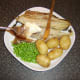 Flesh lifts easily away from grilled Arbroath smokie