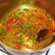 Sauteed vegetables and spices