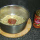 Sun dried tomato pesto is added to penne pasta