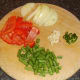 Chopped vegetables for soup