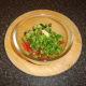 Combining salsa ingredients