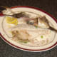 Skeleton lifts clean free when sea bream is half eaten